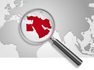Landkarte *** Naher Osten
