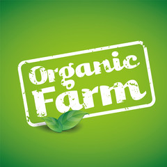 Organic Farm Fresh Healthy Food Eco Green Vector Concept
