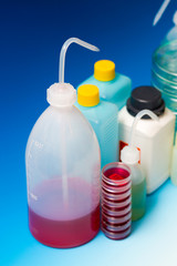 laboratory Wash Bottles for science experiment, dispensing bottl