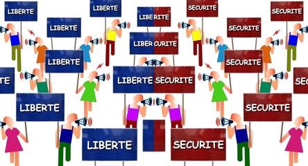 """Manifs """"Liberté vs Sécurité"""""""