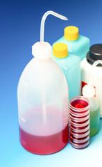 laboratory Wash Bottles for science experiment, dispensing bottl