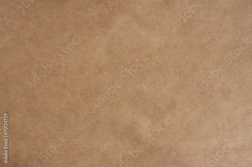brown sriped kraft paper texture or background - 70134759