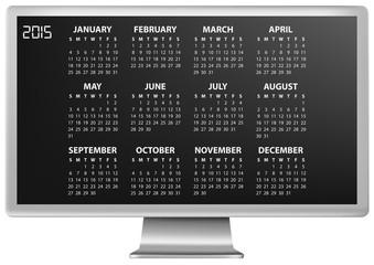 2015 calendar monitor