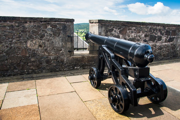 Vintage cannon at Stirling Castle, Scotland, UK