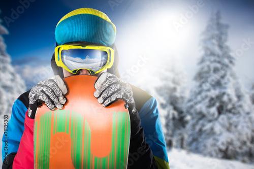Papiers peints Glisse hiver snowboard
