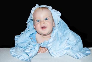 Baby boy blue eyes