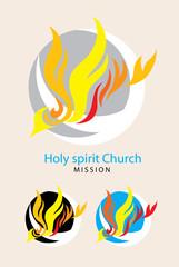 Holy spirit church logo, art vector design