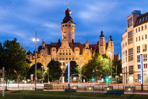 Neues Rathaus Leipzig bei Nacht - 70135506