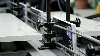 printed book production line into press plant house