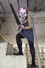 Crazy clown saw