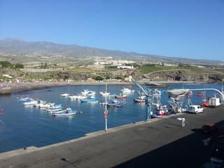 Small harbour in Puerto Santiago. Tenerife island.