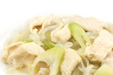 Chicken and Soybean Chow Mein