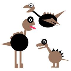 cute dinosaur cartoon isolate