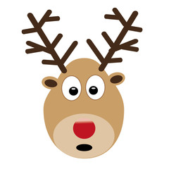 rudolf reindeer isolated