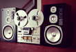 Analog Stereo Open Reel Tape Deck Recorder Vintage with Speakers