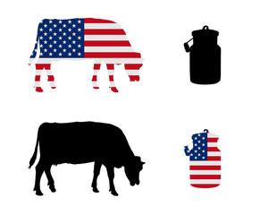 Amerikanische Milchkuh