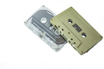 vintage audio tape cassette isolated