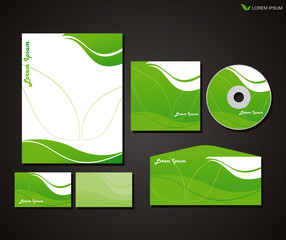 vector corporate identity for business template design