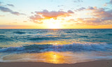 Sunrise over the ocean in Miami Beach, Florida. poster