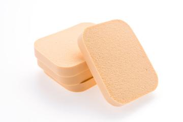 Face sponge powder isolated on white