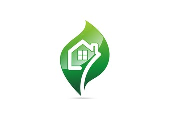 house,logo,ecology,nature,real estate,leaf,plant,vector,shelter