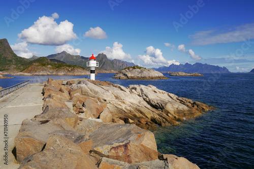 Aluminium Lighthouse. Lofoten, Norway