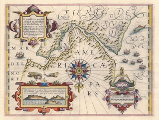 Map of Strait of Magellan