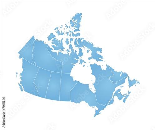 Szczegółowa mapa wektorowa Kanady