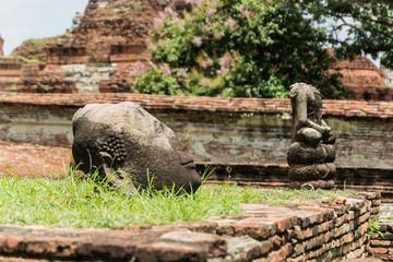 Head of Buddha in Ayutthaya,Thailand.