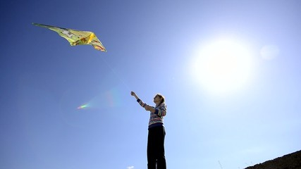 Kite and Kid, wide angle