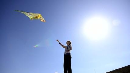 Kite and Kid, wide angle