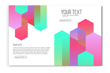 Colourful business brochure, flyer template, booklet layout.