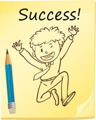 A simple sketch of a successful man