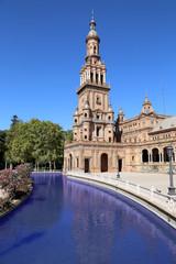 Famous Plaza de Espana- Spanish Square in Seville, Spain