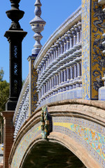 Ceramic bridge in Plaza de Espana, Seville, Spain