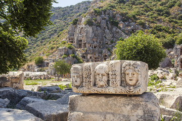Myra Rock Tombs, Demre, Turkey