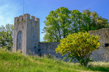 The medieval city wall in Visby, Sweden.