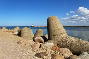 Breakwater in Venspils.