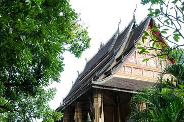 Wat Ho Phra Keo in Vientiane, Laos.