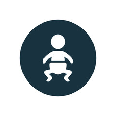 baby circle background icon.