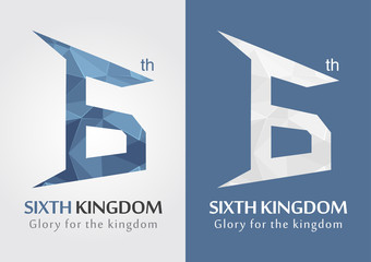 6th Kingdom icon symbol for an alphabet letter number 6.