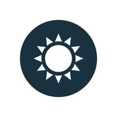 sun circle background icon.