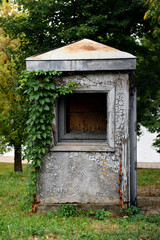 Abandoned guard booth