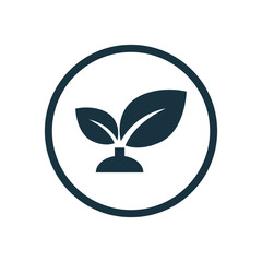 plant circle background icon.
