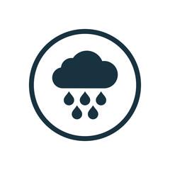cloud rain circle background icon.