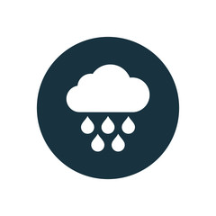 cloud rain circle background icon.