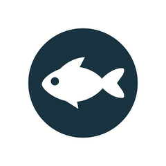 fish circle background icon.