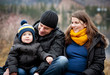 Family with little boy on pier - 70144772