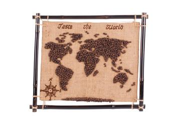 Handmade coffee map.