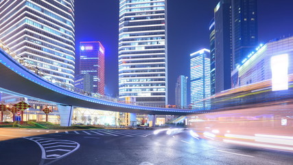 Busy traffic of modern city, China Shanghai . Time-lapse(Loop).